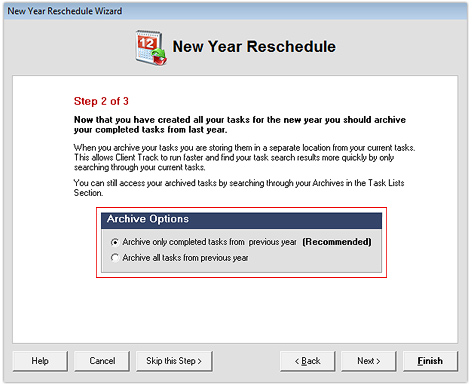 New Year Reschedule Wizard - Archive 